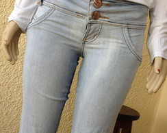 "Cal�a jeans ""customizada com renda"""