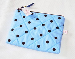 N�cessaire Basic Polka Dots Blue Ice