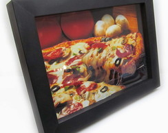 Quadro Decorativo 3d Pizza 18x24cm