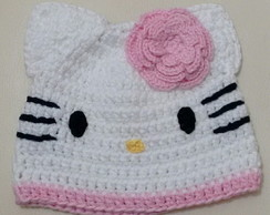 Gorro hello kitty com flor