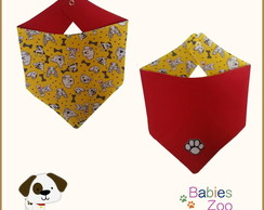 Bandana Pet Dupla Face com bordado