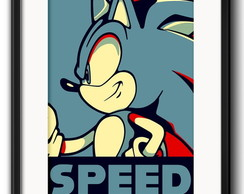Quadro Sonic Speed Game com Paspatur