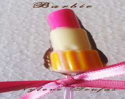 Pirulito De Chocolate batom BARBIE