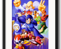 Quadro Mega Man Game com Paspatur