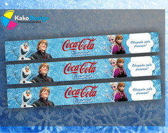 R�tulo Mini Coca cola Frozen