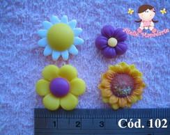 C�d 102 Molde de flores