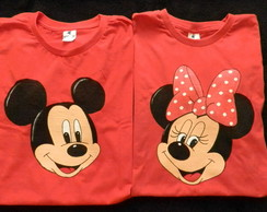 KIT 2 pcs- rosto s/nome (ADULTO) Minnie