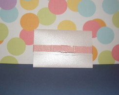 ENVELOPE COM LA�O ROSA CHANNEL
