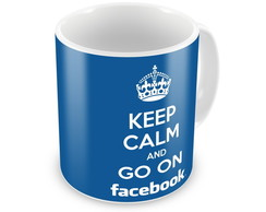 Caneca Keep Calm And Go On Facebook