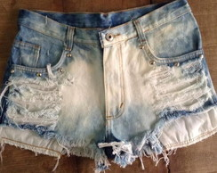 Shorts jeans customizado destroyed