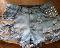 Shorts jeans customizado hot pants