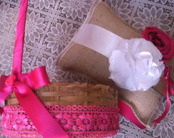 kit casamento R�stico Chic 2 pe�as