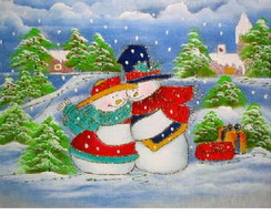 Pano de copa bonecos de neve