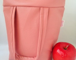 Lunch Bag T�rmica G ecocouro rosa blush
