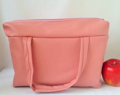 Lunch Bag T�rmica GG ecocouro rosa blush