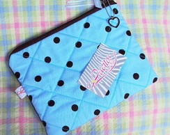 Necessaire Basic Polka Dots Blue Brow