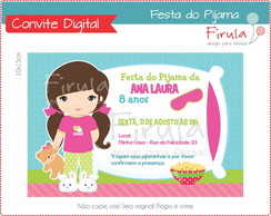 Convite Digital Festa do Pijama