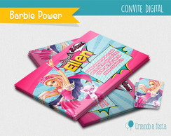 Convite Digital - Barbie Super Princesa