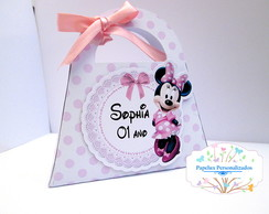Bolsinha Scrap Minnie Rosa