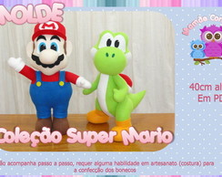 Molde Cole��o Super Mario Kit 02 bonecos