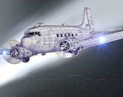 "AVI�O DC-3 ""RECORTADO"" COM LED"