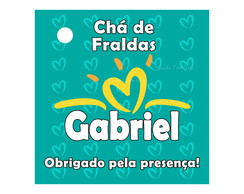 Arte Digital Tag Ch� de Fraldas Pampers