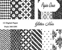 Pap�is Digitais - Glitter Noir
