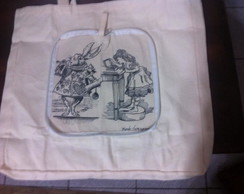 Ecobag carteira Alice in the wonderland