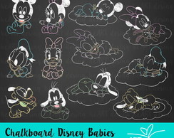 Kit Digital Chalkboard Disney Babies