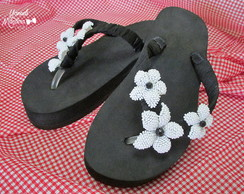 Chinelo bordado 'Flowers'