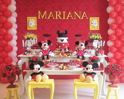 Decora��o tema Minnie Vermelha