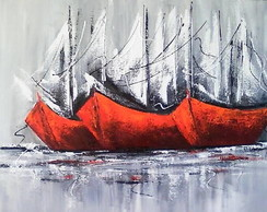 PAINEL 40X60 ABSTRATO BARCOS COD 202