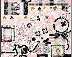 KIT DIGITAL SCRAPBOOK BAILARINA 1