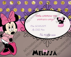 Convite Minnie Mouse Pink Digital
