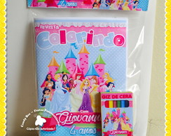 Kit Colorir e Sacola Princesas Disney