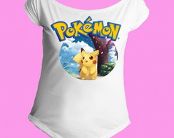 Camiseta Gola Canoa Pokemon 08