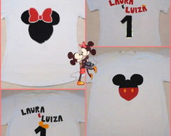Camiseta Mickey e Minnie!