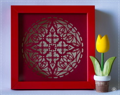 Quadro Mandala Mini Colorida