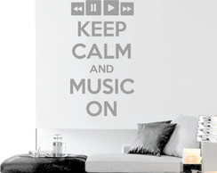 Adesivo Parede keep calm and Music on
