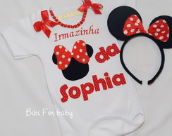 Body Irm�zinha Minnie Vermelha
