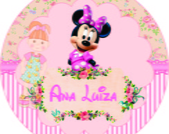 TAG ou R�TULO MINNIE ROSA