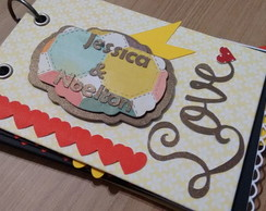 Mini �lbum scrapbooking LOVE