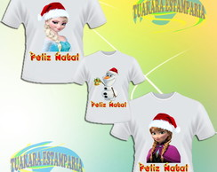 Kit Camiseta - Frozen Natal