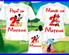 Kit 3 Camisetas - Minei e Mickey