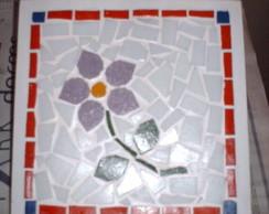 Caixa em mdf com mosaico na tampa