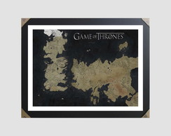 Quadro Moldura 45x35cm Game Of Thrones