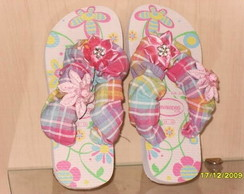 Chinelo patchwork crian�a