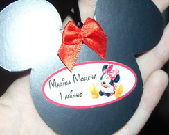 Tag Minnie em papel cart�o