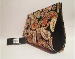 Carteira de m�o - Paisley Black Green