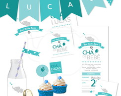 Kit digital | Ch� de beb� personalizado